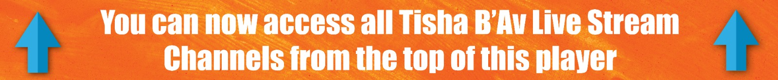 Browse Tisha B'Av Programs From the Top of the Player